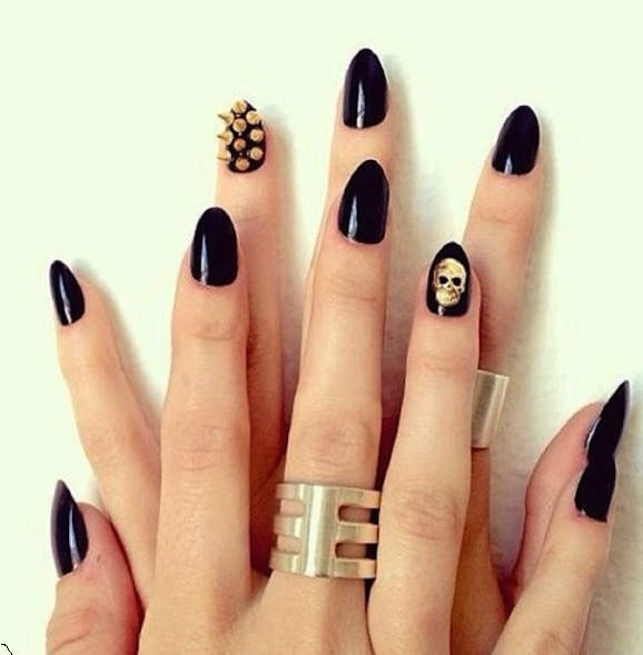 Black Halloween Style 2015 design nail