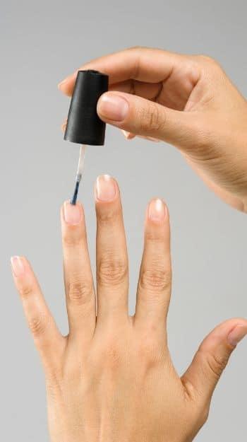 Base coat on acrylic nails
