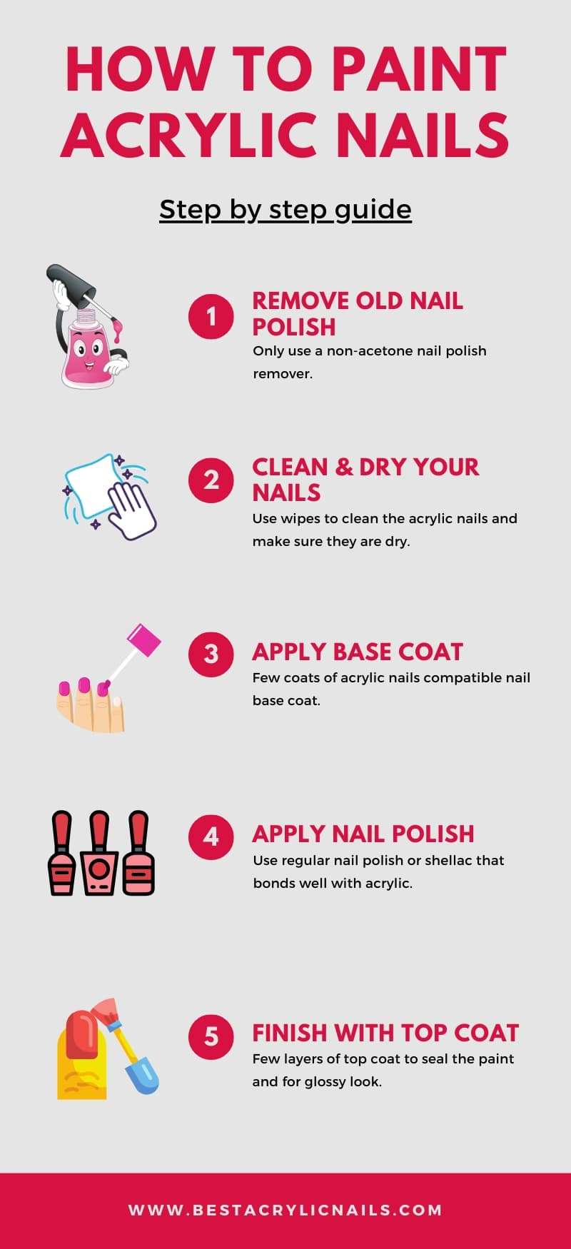 How to paint acrylic nails