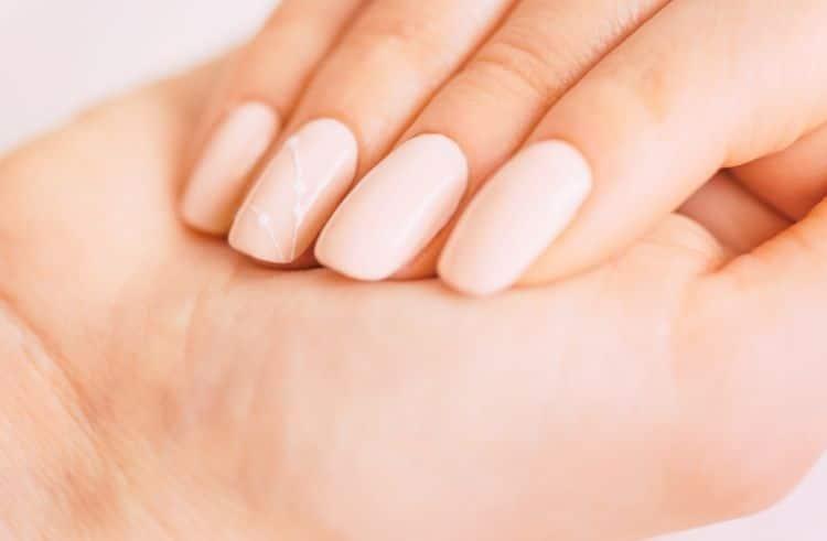 Regular nail polish on acrylic nails