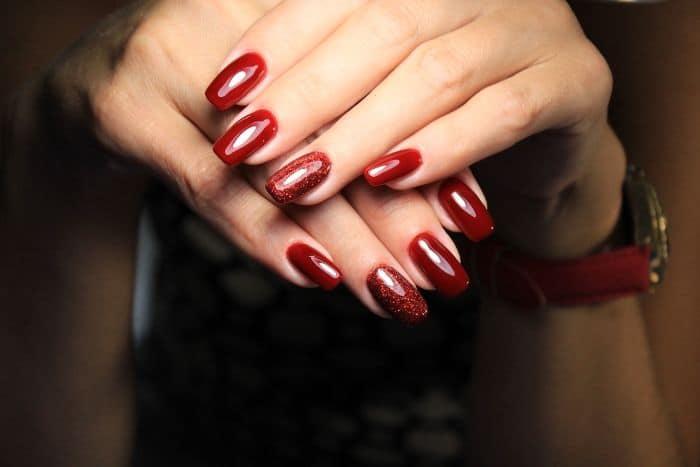 Shellac on acrylic nails