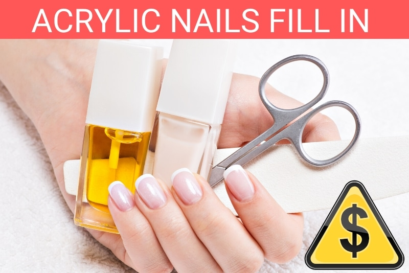 how much do fill ins for acrylic nails cost